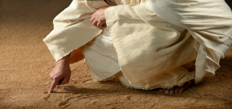 Jesus-Christ-Writing-in-Sand-400