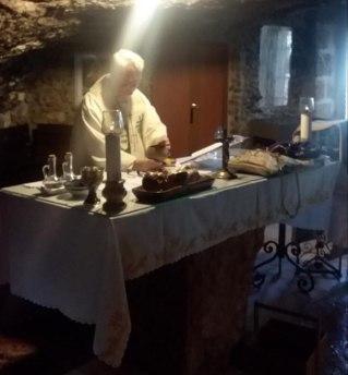 Fr Terry saying Mass