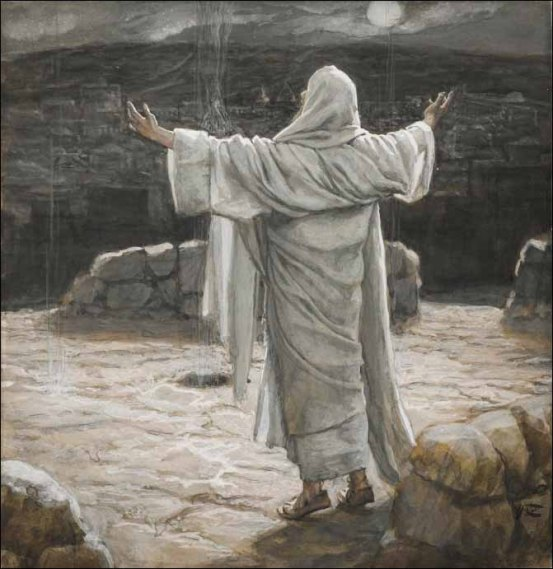 tissot-christ-retreats-to-the-mountain-at-night-671x691