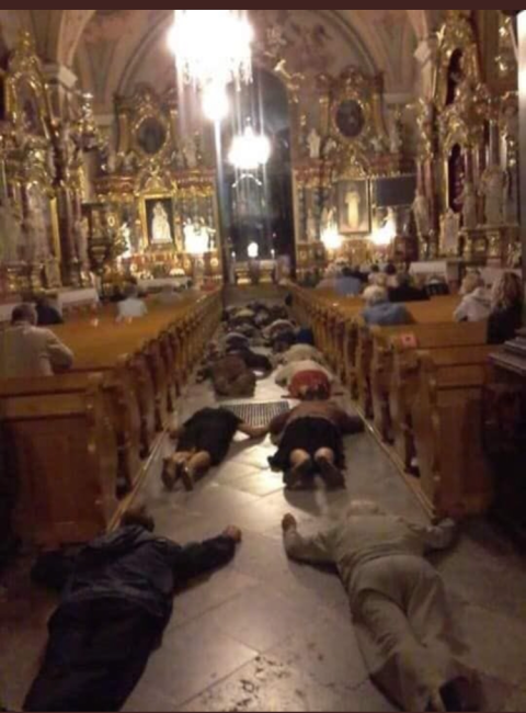Poland lying prostrate