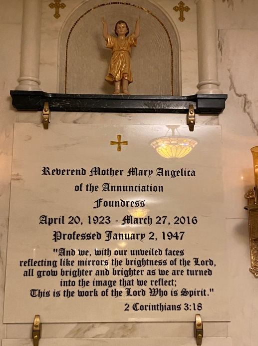 Mother Angelica's grave